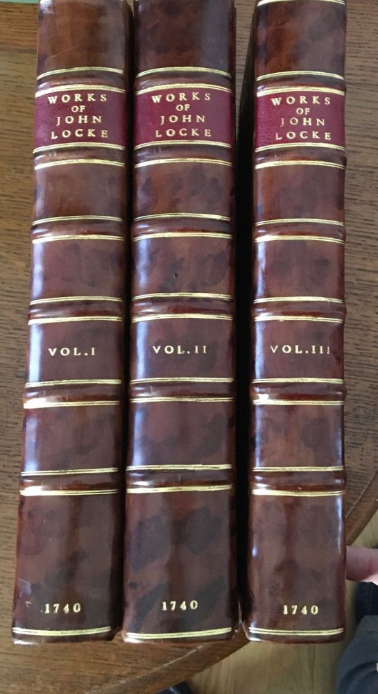 THE WORKS OF JOHN LOCKE Esq. With Alphabetical tables. The Fourth edition. LOCKE. JOHN.