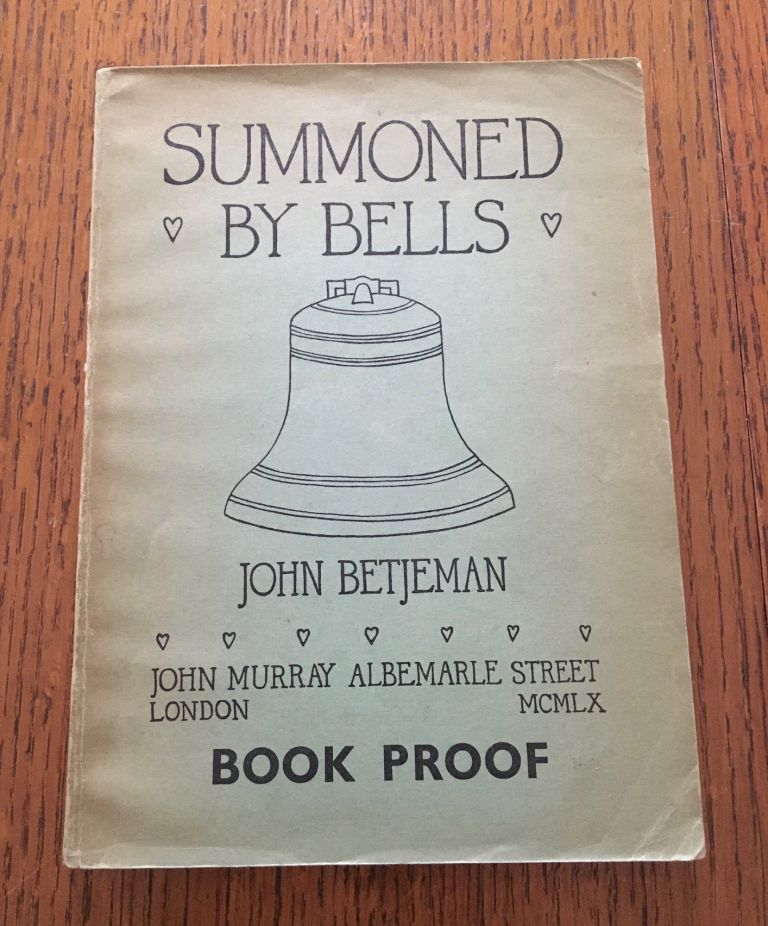SUMMONED BY BELLS. BETJEMAN. JOHN.