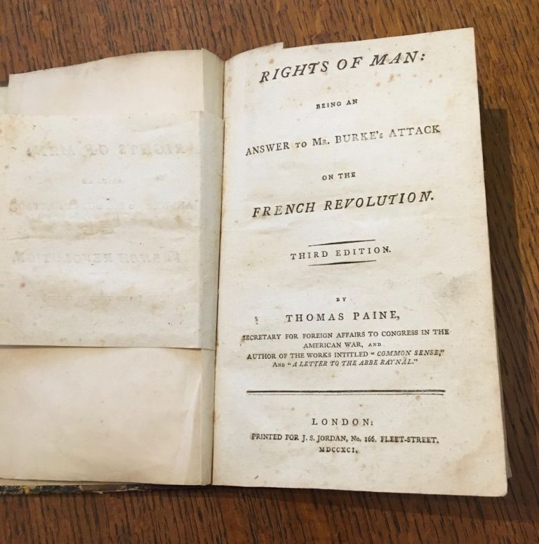 RIGHTS OF MAN. Third edition. PAINE. THOMAS.