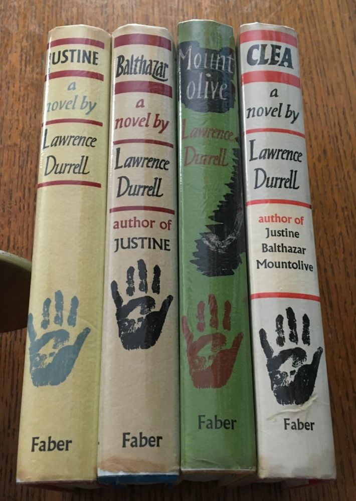 JUSTINE, BALTHAZAR, MOUNT OLIVE, CLEA. THE ALEXANDRIA QUARTET. DURRELL. LAWRENCE.