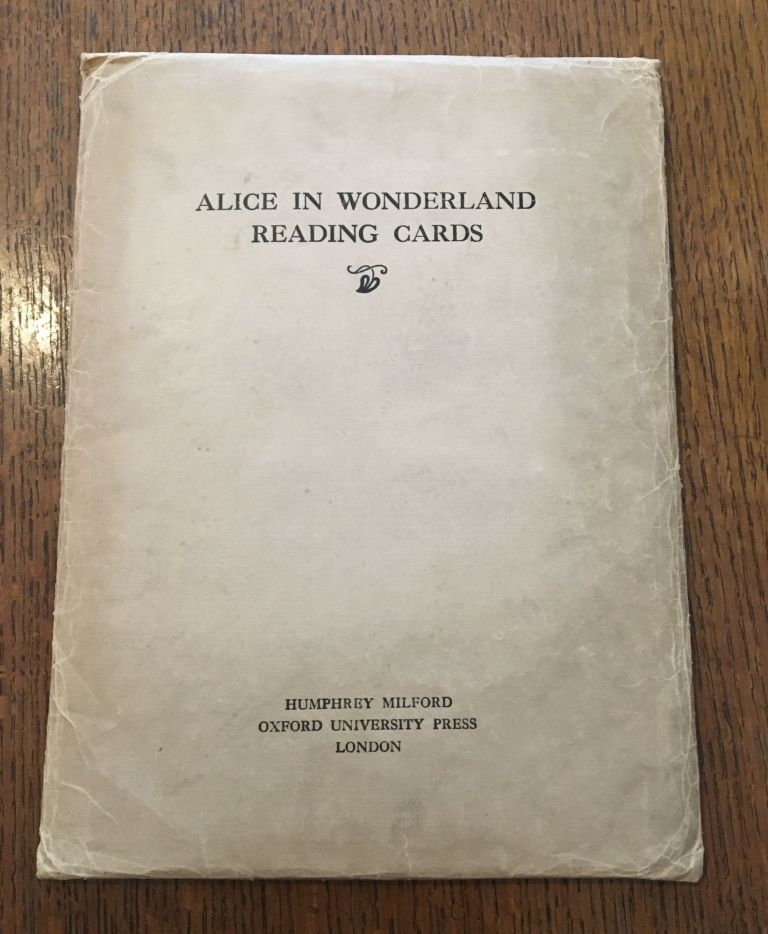 ALICE IN WONDERLAND READING CARDS. CARROLL. LEWIS., Jackson. A. E. Illustrates.