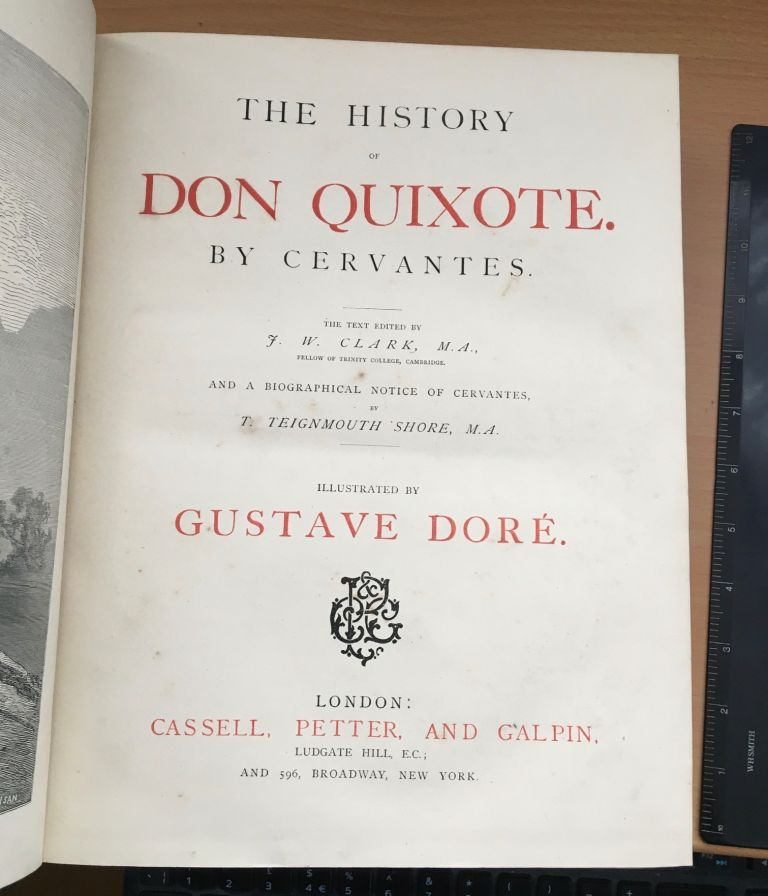 DON QUIXOTE. DORE. GUSTAVE. Illustrates., CERVANTES.