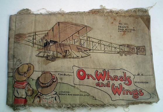 ON WHEELS AND WINGS. F. M. BARTON, No 111 of DEAN'S RAG BOOKS.