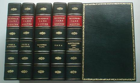 THE NOVELS. Five Volumes. Sense and Sensibility, Pride and Prejudice, Mansfield Park, Emma, Northanger Abbey & Persuasion. The text based on Collation of the early editions by R. W. Chapman. With notes, Indexes and Illustrations from contemporary sources. AUSTEN. JANE.