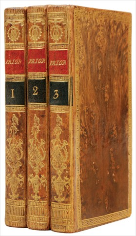 THE POETICAL WORKS. In three volumes. With the Life of the Author. PRIOR. MATTHEW.