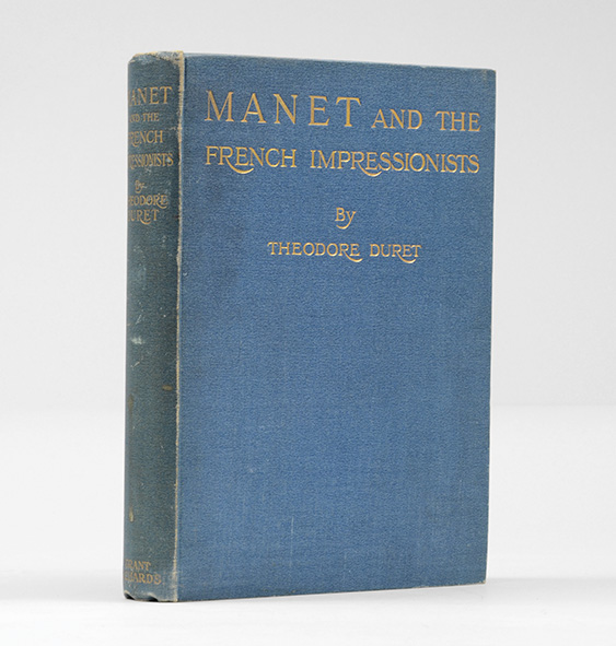 MANET and the French Impressionists. Pisarro, Claude Monet, Sisley, Renoir, Berthe Morisot, Cézanne, Guillaumin. Translated by J. E. Crawford Flitch. DURET. THEODORE.
