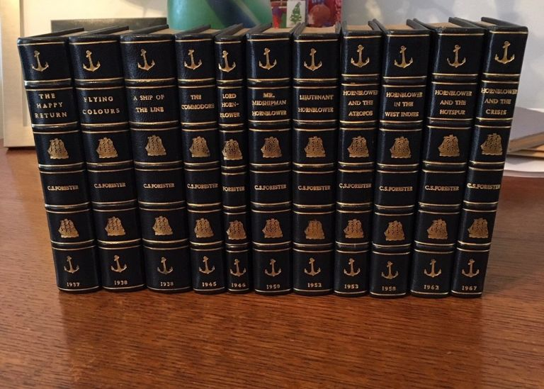 THE COMPLETE HORNBLOWER NOVELS. The Happy Return (1937); A Ship of the Line (1938); Flying Colours (1938); The Commodore (1945); Lord Hornblower (1946); Mr Midshipman Hornblower (1950); Lieutenant Hornblower (1952); Hornblower and the Atropos (1953); Hornblower in the West Indies (1958); Hornblower and the Hotspur (1962); Hornblower and the Crisis (an unfinished novel. 1967). FORESTER. C. S.