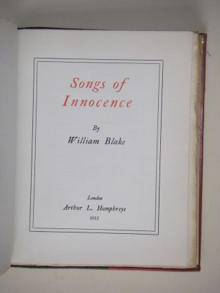 SONGS OF INNOCENCE.