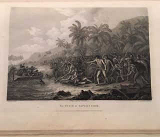 THE VOYAGES OF CAPTAIN COOK.----- ATLAS VOLUME ONLY. A Voyage to the Pacific Ocean. Undertaken, by the command of His Majesty,for making discoveries in the Northern Hemisphere. COOK. Captain JAMES., HAWKESWORTH. JOHN.