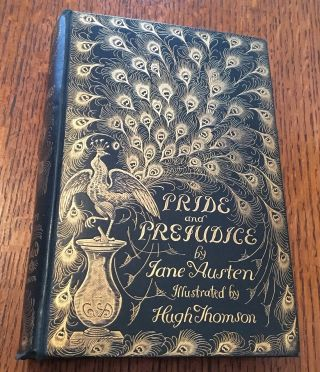 PRIDE AND PREJUDICE. With a preface by George Saintsbury. AUSTEN. JANE., Thomson. Hugh. Illustrates.