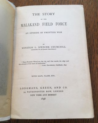 THE STORY OF THE MALAKAND FIELD FORCE. An episode of Frontier War.
