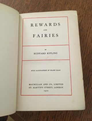 REWARDS AND FAIRIES. -- Contains IF.