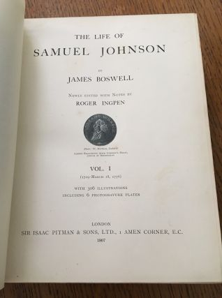 THE LIFE OF SAMUEL JOHNSON. Newly edited with notes by Roger Ingpen.