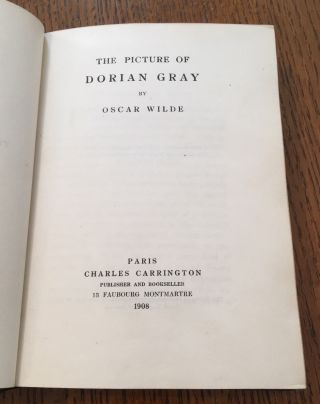 THE PICTURE OF DORIAN GRAY. With an editorial note by Robert Ross.