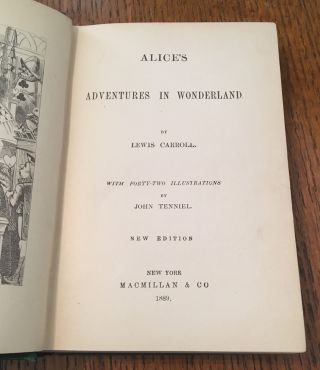 ALICE'S ADVENTURES IN WONDERLAND. New Edition. With Forty-Two illustrations by John Tenniel.
