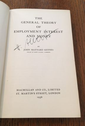 THE GENERAL THEORY OF EMPLOYMENT INTEREST AND MONEY.