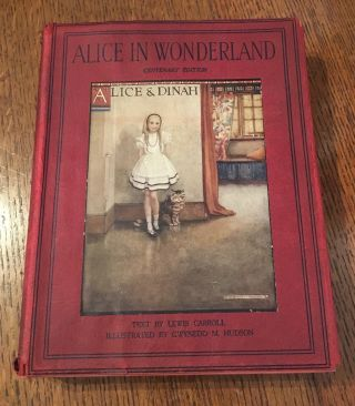 ALICE'S ADVENTURES IN WONDERLAND. HUDSON. GWYNEDD. M. Illustrates., CARROLL. LEWIS