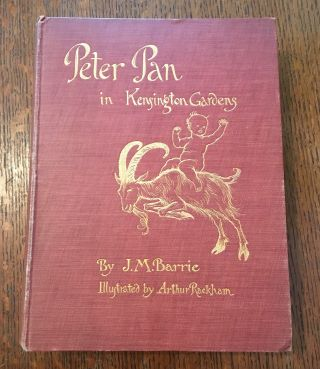 PETER PAN IN KENSINGTON GARDENS. RACKHAM. ARTHUR. Illustrates, BARRIE. J. M
