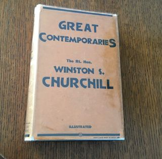 GREAT CONTEMPORARIES. CHURCHILL. WINSTON. S