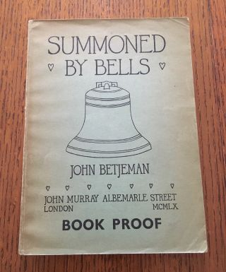 SUMMONED BY BELLS. BETJEMAN. JOHN