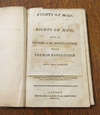 RIGHTS OF MAN. Third edition.