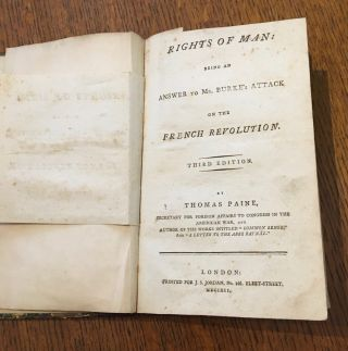 RIGHTS OF MAN. Third edition. PAINE. THOMAS