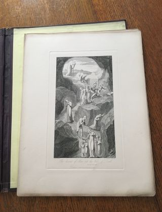 BLAIR'S GRAVE, ILLUSTRATED IN TWELVE PLATES BY BLAKE. The Grave, A Poem. Illustrated by twelve etchings executed by Louis Schiavonetti, from the original inventions of William Blake.
