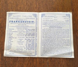 FRANKENSTEIN. A melodramatic Burlesque in 3 acts. Music by Mayer Lutz. Produced by Charles Harris.