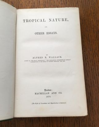 TROPICAL NATURE. And Other Essays.