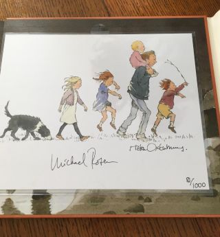 WE'RE GOING ON A BEAR HUNT. 30th Anniversary collector's edition, with signed illustration.