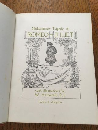 ROMEO AND JULIET. Shakespeare's Tragedy of.