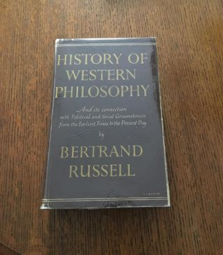 HISTORY OF WESTERN PHILOSOPHY. And its connection with political and social circumstances from...