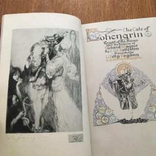 THE TALE OF LOHENGRIN. Knight of the Swan after the Drama of Richard Wagner by T. W. Rolleston.
