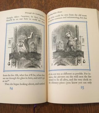 ALICE IN WONDERLAND. & THROUGH THE LOOKING GLASS. With all the original engravings as drawn by Sir John Tenniel.