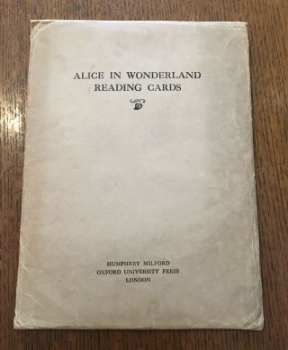 ALICE IN WONDERLAND READING CARDS. CARROLL. LEWIS., Jackson. A. E. Illustrates