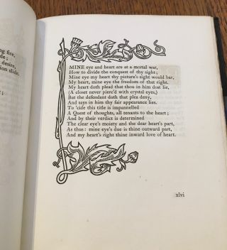THE SONNETS. With decorations by Ernest G. Treglown, engraved on wood by Charles Carr.