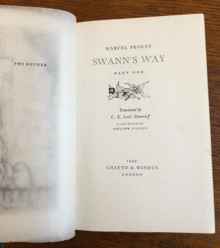 REMEMBRANCE OF THINGS PAST. (A la Recherche du Temps Perdu). Swann's way; Within a budding grove; The Guermantes way; Cities of the Plain; The Captive; The Sweet cheat gone; Time Regained... With Etchings by Philippe Jullian.