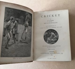 CRICKET. The Badmington Library of Sports and Pastimes.
