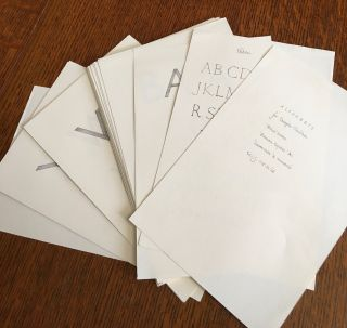 A BOOK OF ALPHABETS. For Douglas Cleverdon drawn by Eric Gill. With a foreword by Douglas Cleverdon and an introduction by John Dreyfus.