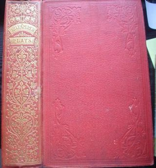 THE PLAYS OF WILLIAM SHAKSPERE. Complete in one volume. SHAKESPEARE. WILLIAM