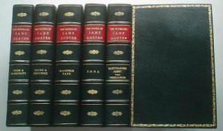THE NOVELS. Five Volumes. Sense and Sensibility, Pride and Prejudice, Mansfield Park, Emma,...