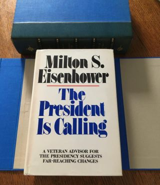 THE PRESIDENT IS CALLING. White House. -- EISENHOWER. MILTON. S