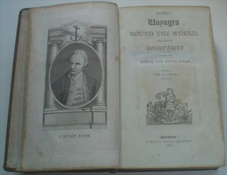 COOK'S VOYAGES ROUND THE WORLD. For making discoveries towards the North and South Poles. With an appendix.