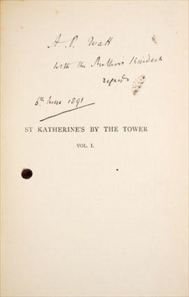 St. KATHERINE'S BY THE TOWER. A Novel. In Three Volumes with Twelve Illustrations by Charles Green.