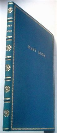 FINE LEATHER BOUND BABY BOOK. BABY BOOK.
