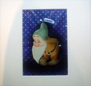 ORIGINAL HAND PAINTED FILM ANIMATION CELL OF 'BASHFUL' FROM SNOW WHITE AND THE SEVEN DWARFS....