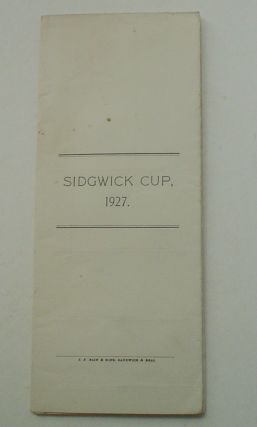 SPRING MEETING, 1927. THE SIDGEWICK CUP FOURSOME TOURNAMENT.