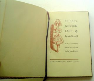 ALICE IN WONDERLAND. With all the original engravings as drawn by Sir John Tenniel. CARROLL. LEWIS., Tenniel. John. Illustrates.