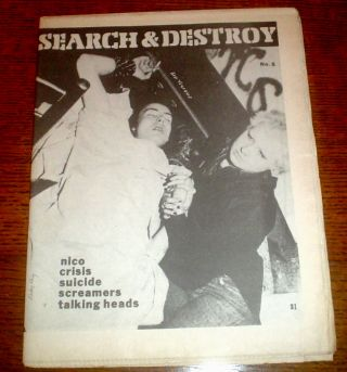 SEARCH & DESTROY. Complete set of original issues 1 to 11. All published. 1977-1979.