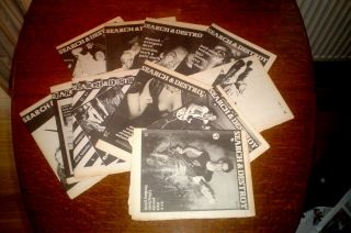 SEARCH & DESTROY. Complete set of original issues 1 to 11. All published. 1977-1979. VALE. V. Edits